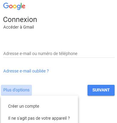 creation compte google