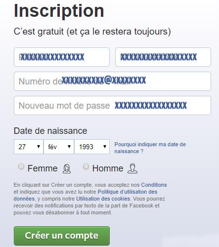 s'inscrire sur facebook