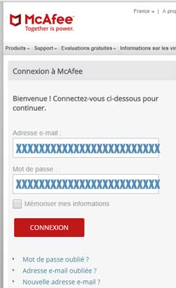 www.mcafee.com Mon Compte particulier