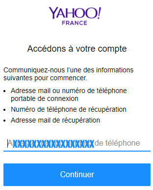 Problème connexion Yahoo