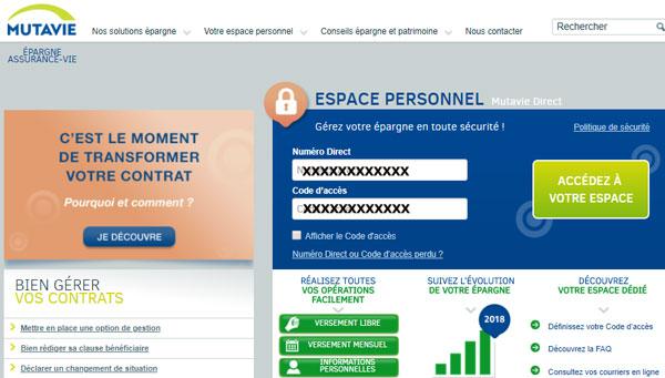 mutavie.fr espace client, mes contrats