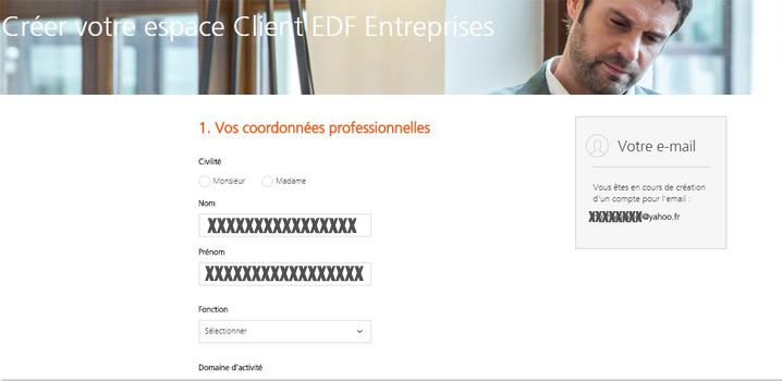 formulaire inscription edf entreprise