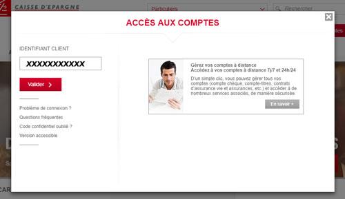 Direct Ecureuil Internet accès comptes