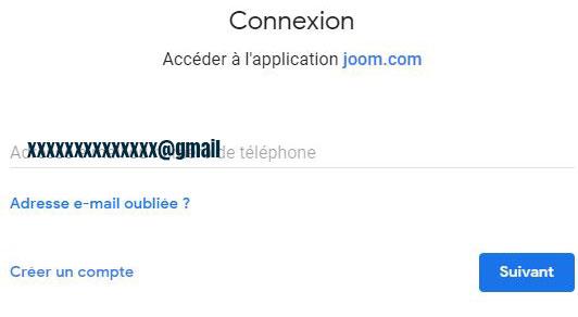 connexion joom gmail