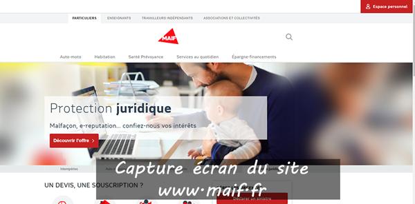 www.maif.fr : site de la mutuelle