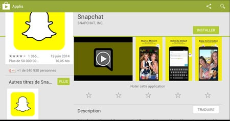 Snapchat sur internet