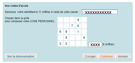 CA PCA.fr mes comptes en ligne
