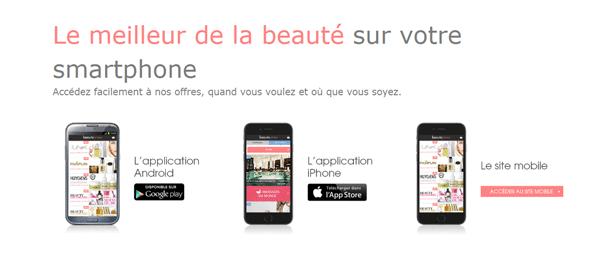 application mobile beauté privée