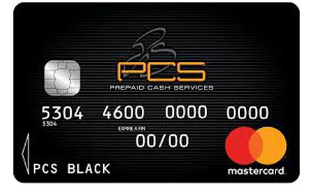PCS mastercard montant libre