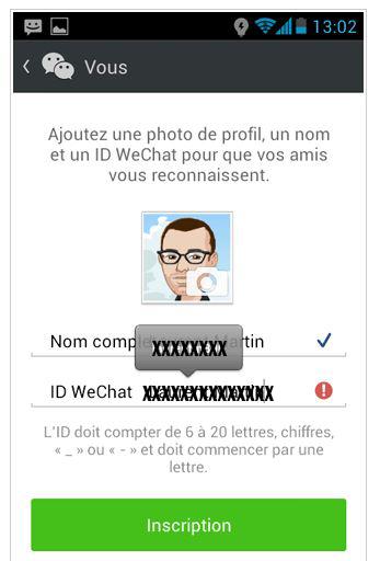 profil wechat