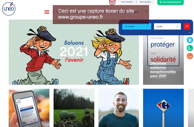 www.groupe-uneo.fr : le site de la mutuelle uneo