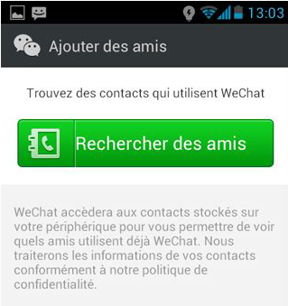wechat adresse contact