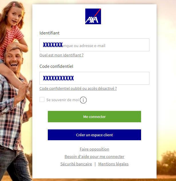 acces espace client axa banque
