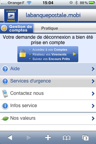 application mobile banque postale