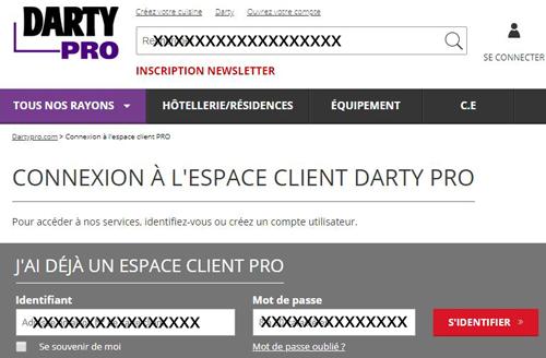 Darty pro espace client