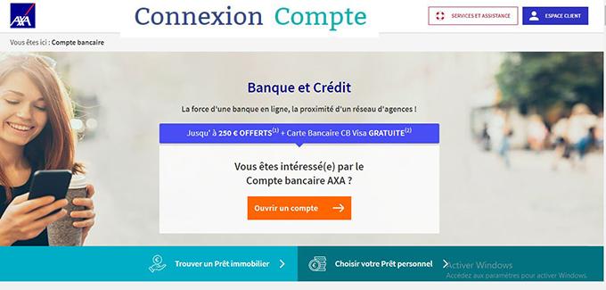 ouverture compte bancaire Axa