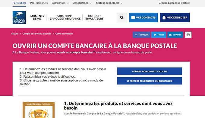 ouvrir compte bancaire postale en ligne