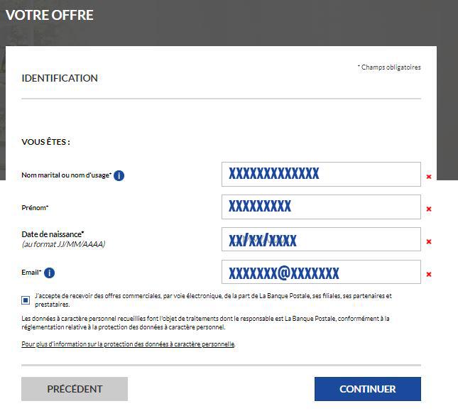 inscription banque postale en ligne