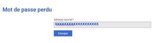 Bloctel.gouv.fr j'ai oublié mon mot de passe