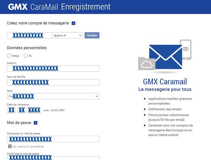 inscription messagerie électronique gmx