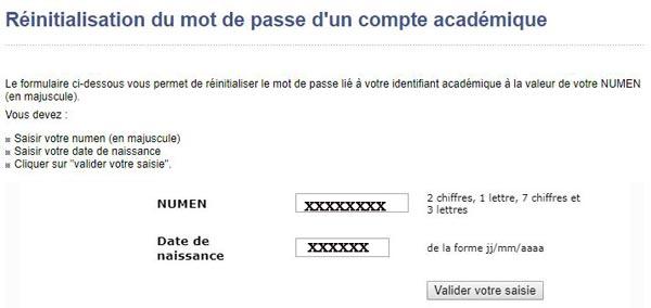 Récupérer le mot de passe du webmail académique
