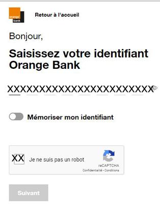 se connecter à l'espace client Orange Bank