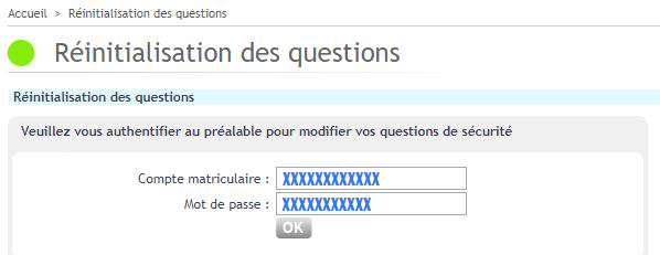 reinitialisation question secretes webmail ratp