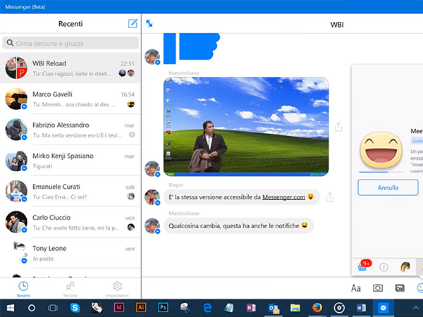 version web messenger