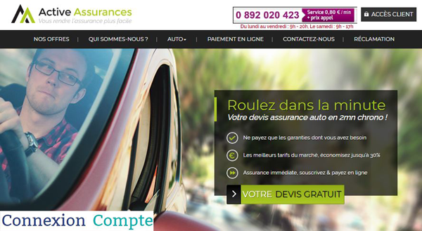 site assurance auto : www.activeassurances.fr