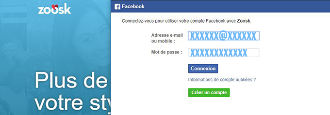 inscription zoosk avec facebook