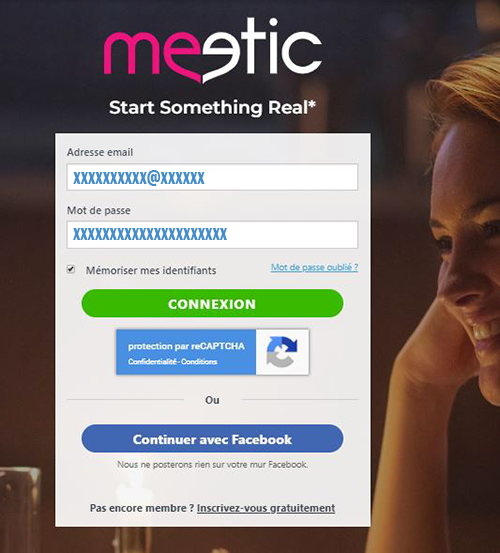 comment se connecter à mon compte Meetic