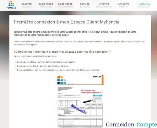 Première connexion à mon Espace Client MyFoncia
