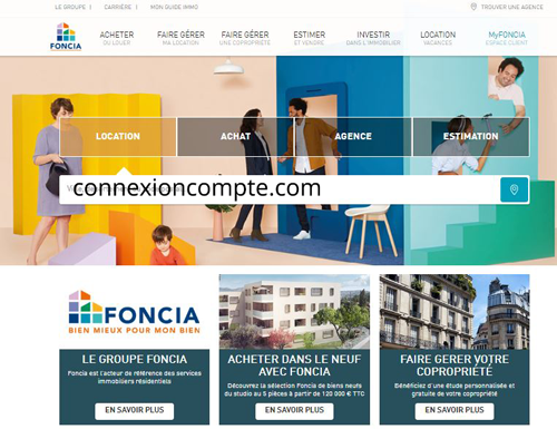 accès compte Myfoncia sur le site www.foncia.com