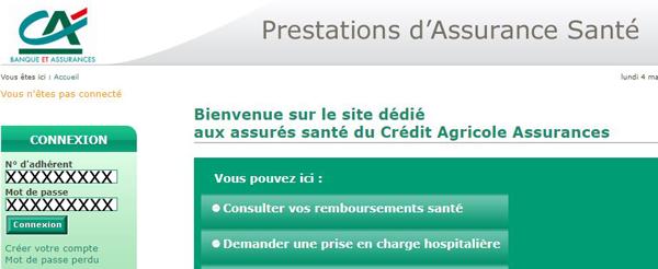 www.ca-prestations-sante.fr : connexion compte pacifia