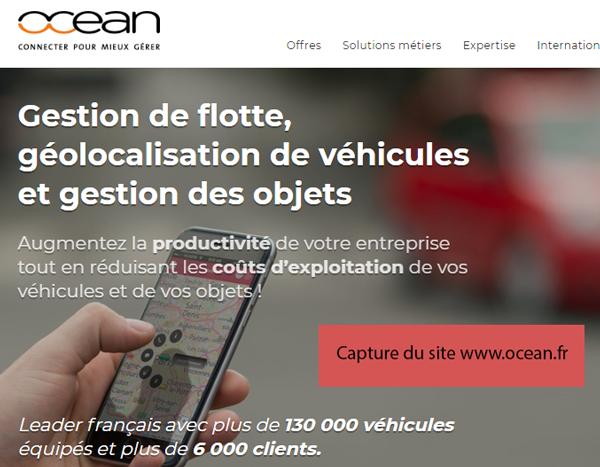 site officiel de OCEAN Géolocalisation