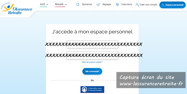 se connecter à mon espace client sur www.lassuranceretraite.fr