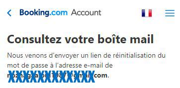 probleme connexion compte booking