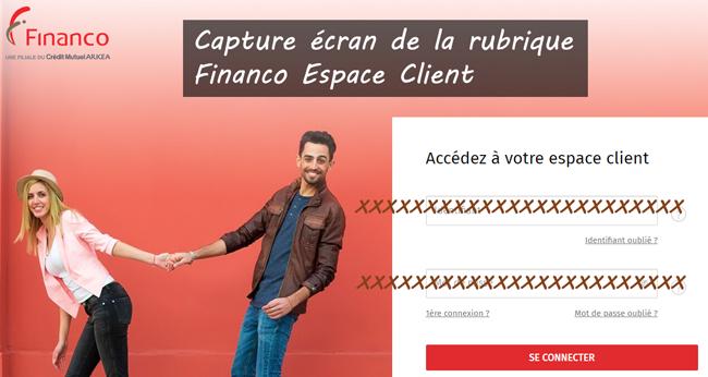 Financo Espace Client : démarche de connexion
