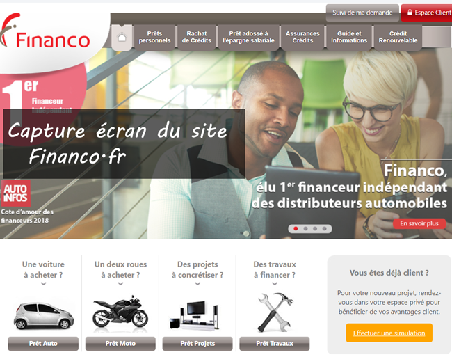 Financo.fr : site officiel de Financo crédit