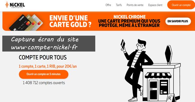 accès sur le site www.compte-nickel.fr