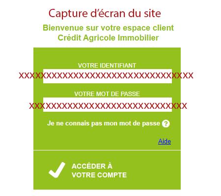 Connexion sur espaceclient.ca-immobilier.fr
