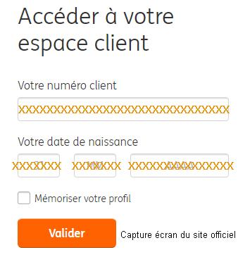 accès à mon compte client Ingdirect