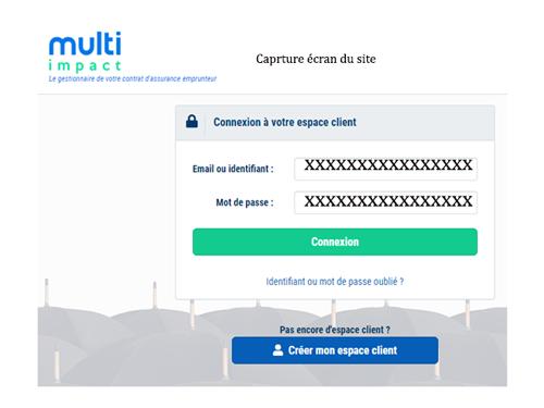 Accès à l'espace client Multi impact