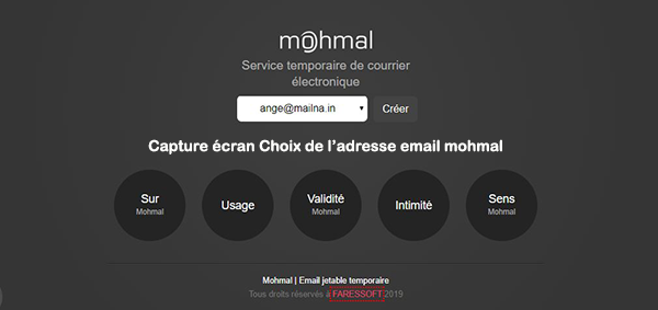 creation adresse email jetable