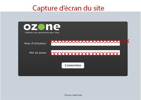 Accéder à sa boite mail ozone