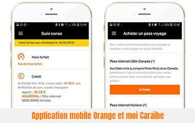 application mobile orange et moi Caraïbe