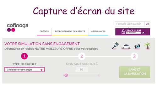 Accéder à www.cofinoga.fr