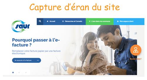 Accéder à www.saurclient.fr