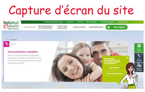 Accéder à www.solimut-mutuelle.fr espace adhérent