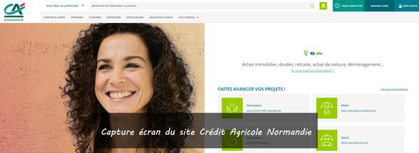 site de crédit agricole Normandie en ligne